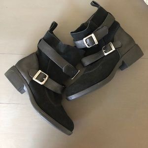 Black ankle boots by MIA